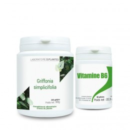 Pack Griffonia + Vitamine B6, compléments alimentaires