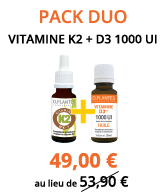 Pack Duo Vitamine D3++ 1000 UI + K2