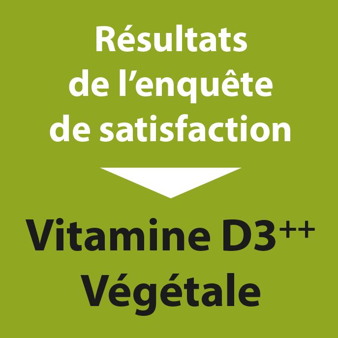 Résultats sondage Vitamine D3++ Végétale
