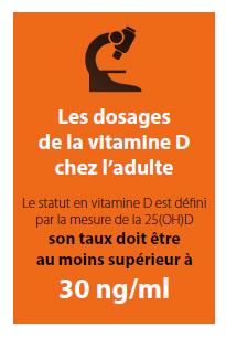 Les dosages de la vitamine D chez l'adulte