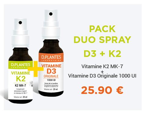 Pack Duo D3+K2, 25.90 € au lieu 28.35 €, Laboratoire D.Plantes