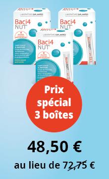 Pack Baci4-Nut, équilibre de la flore intestinale