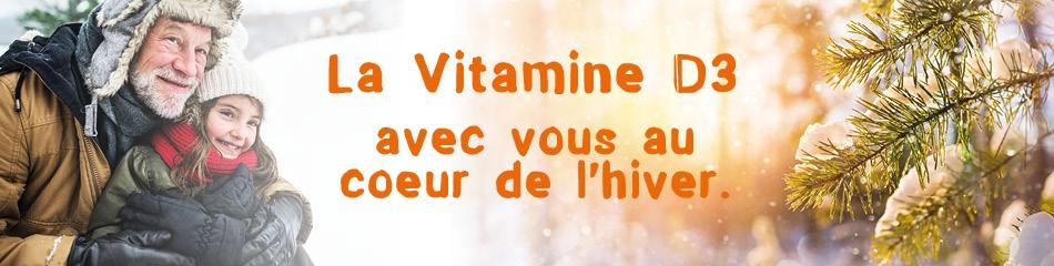 Vitamine D3 au coeur de l'hiver