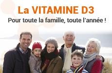 La vitamine D3 pour toute la famille
