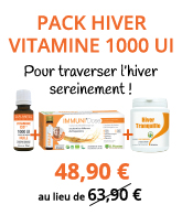 Pack Hiver Vitamine D3++ 1000 UI